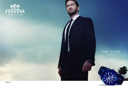Festina Time To Live Campaign with Gerard Butler_