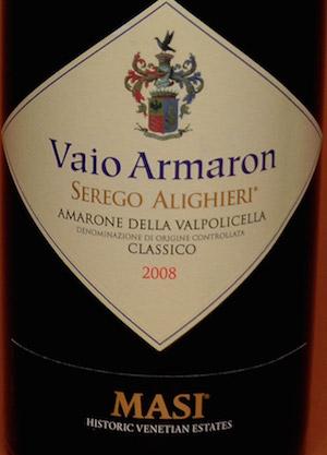 05_AMARONE DELLA VALPOLICELLA CLASSICO SEREGO ALIGHIERI VAIO ARMARON 2008