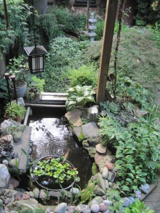 One of the hidden gardens on tour in downtown Troy. Submitted photo