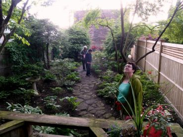 One of the hidden gardens on tour in downtown Troy. Photo by Troy by Gas-Light