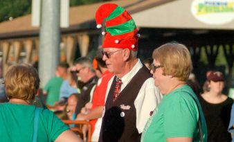 "Staff members got into the holiday spirit at the Tri-City ValleyCats ""Christmas in July"" game against the Connecticut Tigers Thursday, July 14, at Joseph L. Bruno Stadium. Rob Jonas/Spotlight"