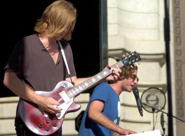 Albany synth-rock duo Titanics open for Bloc Party at Alive at Five Thursday, July 21. Rob Jonas/Spotlight