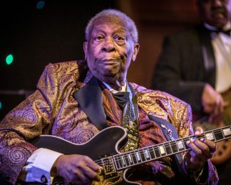 B.B. King at the Massry Center — Photo by Jim Gilbert