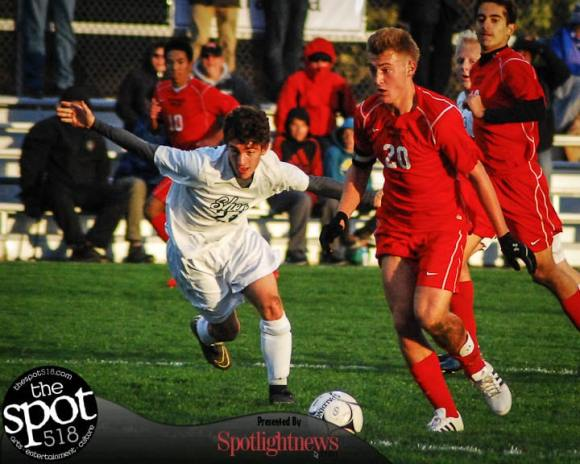 SPOTTED: Guilderland vs. Shenendehowa Section 2 Class AA boys soccer playoffs Oct. 28. Photo by Rob Jonas/Spotlight