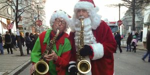 Saxaphone Santa, right, will be performing live during the Victorian Stroll on Sunday. (Photo courtesy of the  Official 34th Annual Troy Victoran Stroll Facebook page)