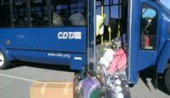 CDTA stuffed bus // Photo courtesy of the office of the Albany County Executive