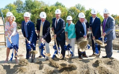 A ceremonial ground breaking at Albany Med's new Route 9 facility