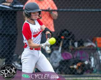 Guilderland batter Ashley Shean takes a cut during the Section II, Class AA quarterfinals against Bethlehem at Bethlehem High School on Wednesday, May 29 2019 (Jim Franco/Special to the Times Union.)