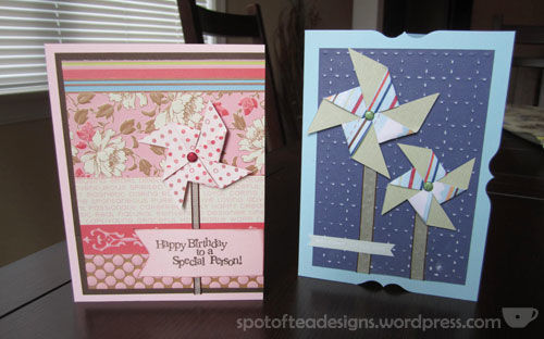 pinwheels cards for birthday and baby
