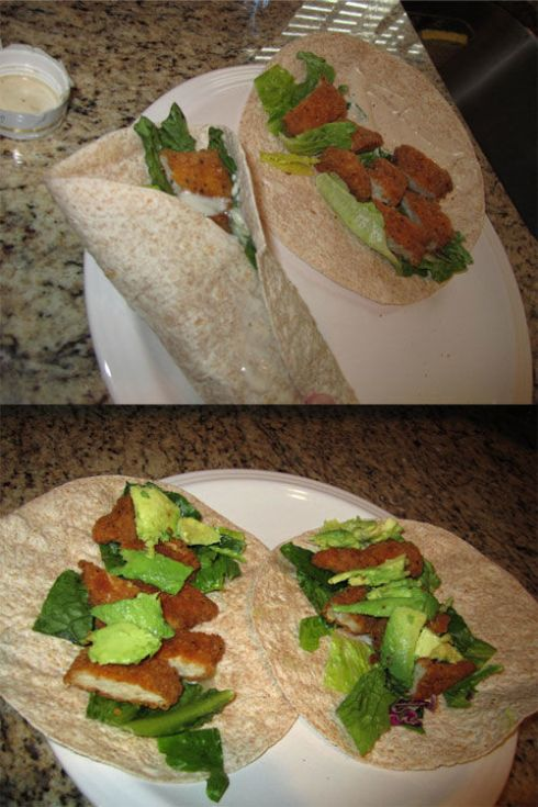 Semi homemade crispy chicken snack wraps