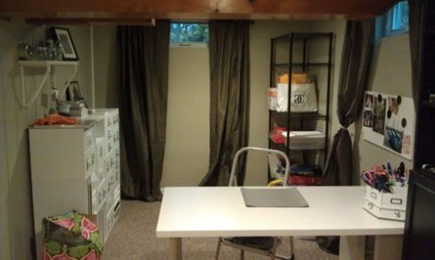 Basement Craft Room After