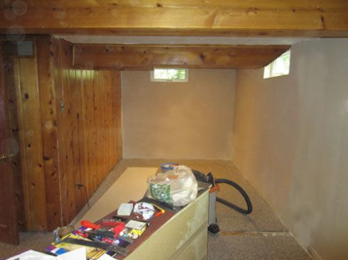 Basement Craft Room Before