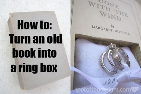 How to turn an old book into a ring box | spotofteadesigns.com