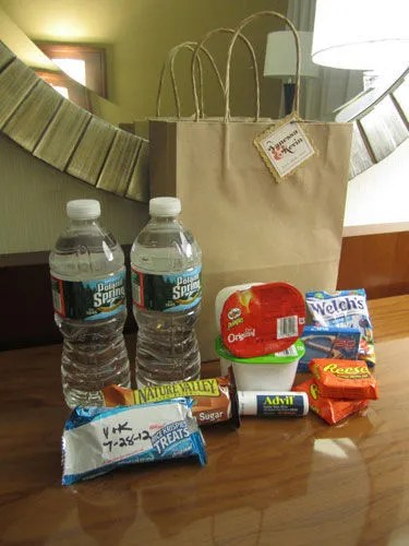 Hotel Welcome Bags - how to make your guests read your directions upon checking in | spotofteadesigns.com