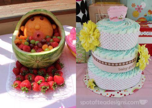 Baby Shower Watermelon Fruit Bowl   spotofteadesigns.com