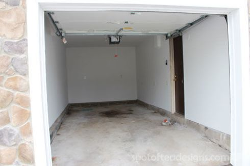 Garage Makeover: Sheetrocked Walls | spotofteadesigns.com