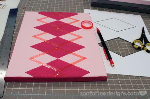 Nursery Canvas Art Argyle Tape - spotofteadesigns.com