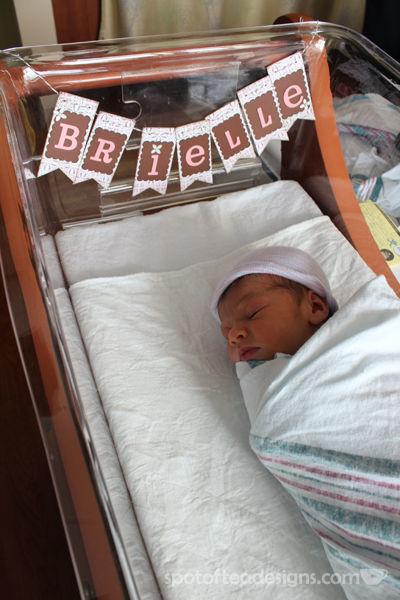 baby name garland | spotofteadesigns.com