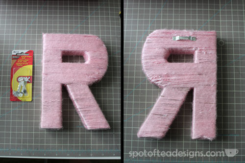 How to Hand Yarn Wrapped Letters | spotofteadesigns.com