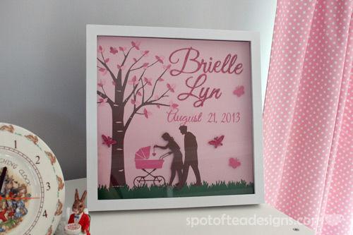 Personalized Frame for Baby Nursery | spotofteadesigns.com