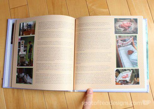 Documenting Pregnancy Photo book | spotofteadesigns.com