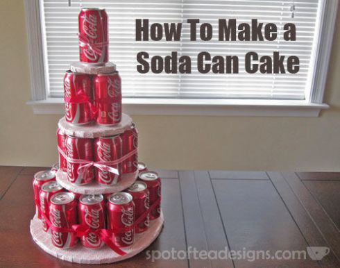 How to Make a Soda Can Cake Tutorial