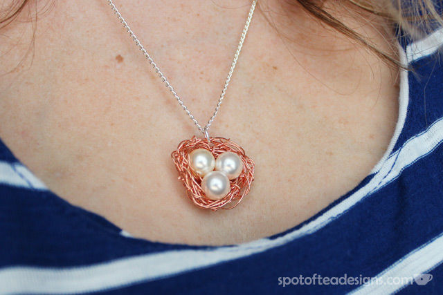 Bird's nest Necklace | spotofteadesigns.com