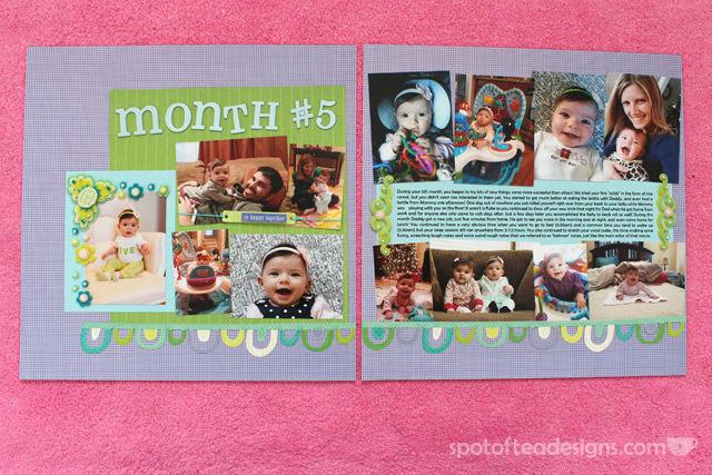 #Baby #Scrapbook Month 5   spotofteadesigns.com