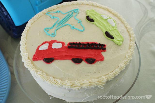 Transportation Themed Baby Shower: cake | spotofteadesigns.com