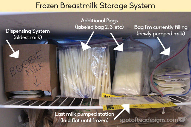 Frozen Breastmilk Storage Solution Explained: take a peek inside my freezer! | spotofteadesigns.com