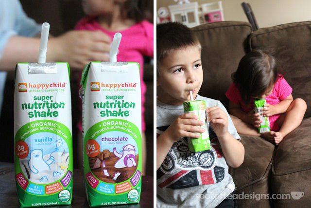 Spotofteadesigns.com reviews Happy Child's new line of Nutritional Shakes available in Chocolate and vanilla | spotofteadesigns.com