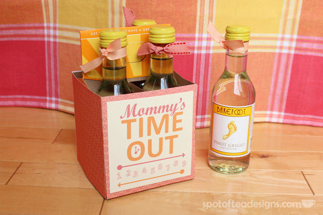 """Mommy's Time Out"" Wine Gift with FREE #Printable 