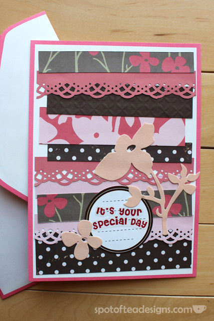 Handmade Birthday Card Made from paper scraps | spotofteadesigns.com