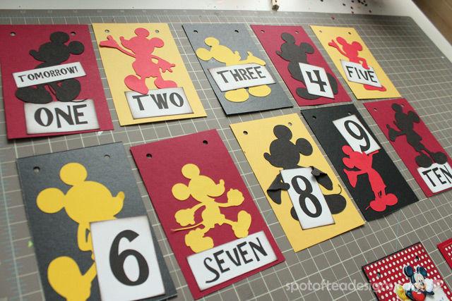 #Disney themed Countdown Calendar: 10 days to Disney pages | spotofteadesigns.com