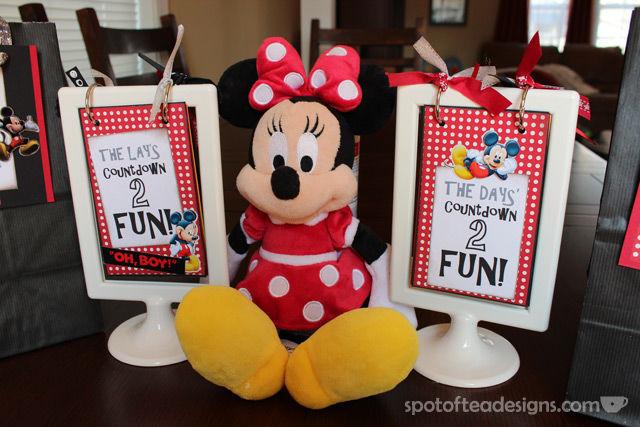 #Disney themed Countdown Calendars| spotofteadesigns.com