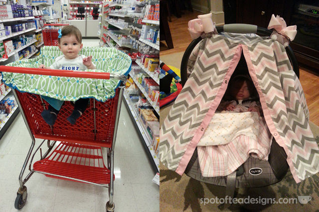 Top Ten Favorite Baby Items for 5 months - 1 year: Shopping Cart and Car Seat Covers | spotofteadesigns.com