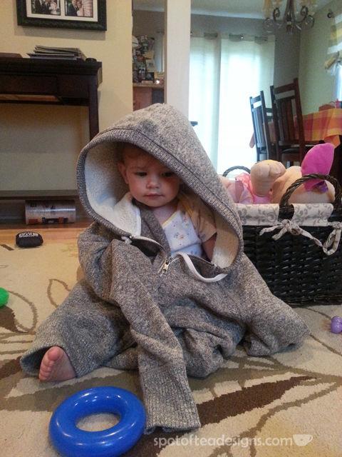 Brielle in hoodie | spotofteadesigns.com