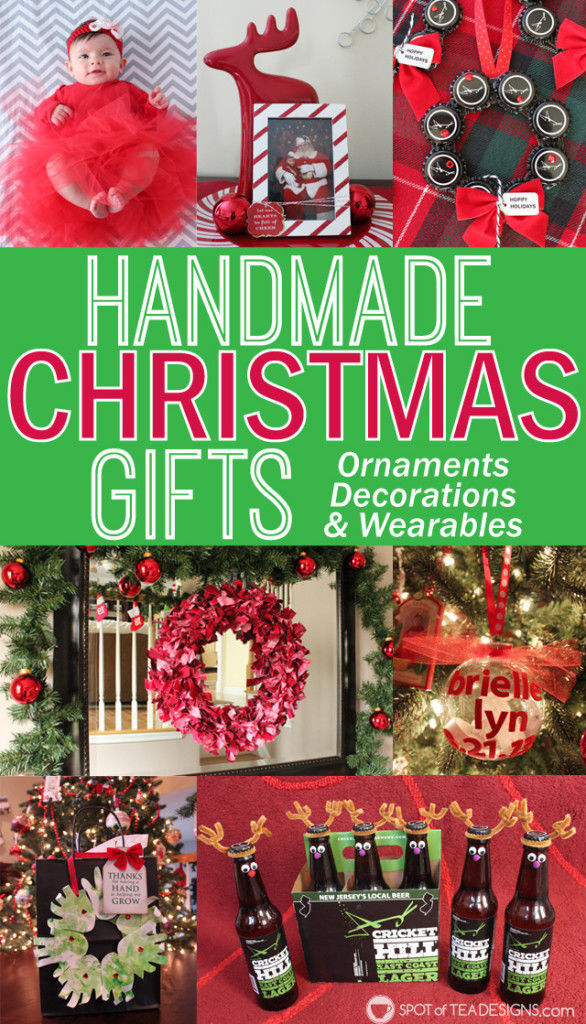 Handmade #Christmas #Gifts - Ornaments, decorations, and wearables | spotofteadesigns.com