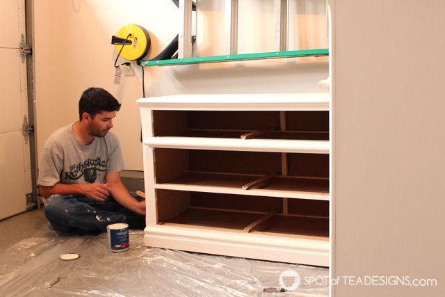 #Nursery Furniture Makeover - @Valspar_Paint paint  spotofteadesigns.com