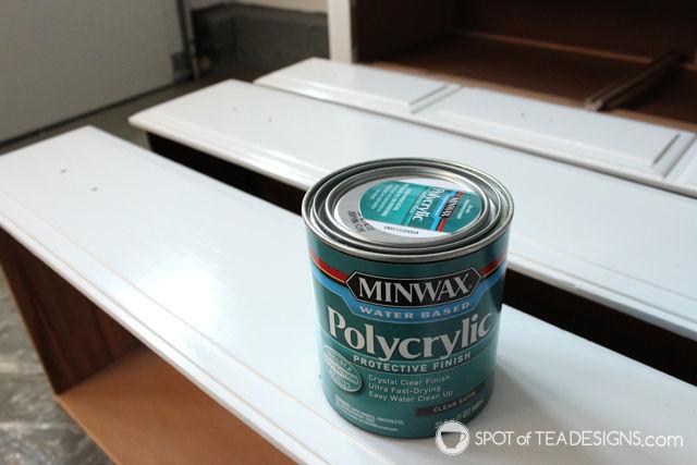 #Nursery Furniture Makeover - @MinWax Polycrylic Protective Finish  spotofteadesigns.com