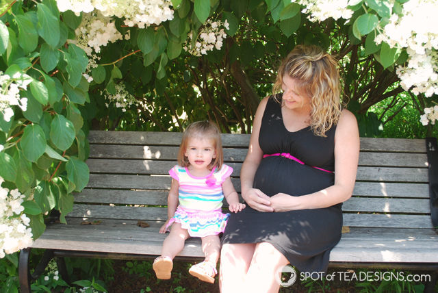 Maternity Photo Shoot for Baby #2. #photography #maternity | spotofteadesigns.com