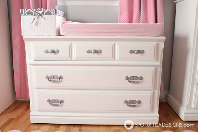 #Nursery Furniture Makeover - @Valspar_Paint #DIY | spotofteadesigns.com