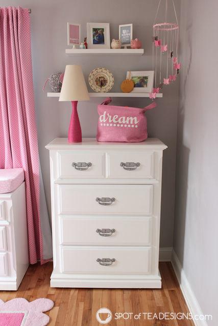 #Nursery Furniture Makeover - @Valspar_Paint #DIY   spotofteadesigns.com