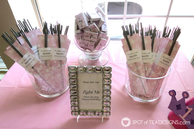 Sparkling First #Birthday #Party featuring a pink and silver sparkle color palette - sparkler station | spotofteadesigns.com