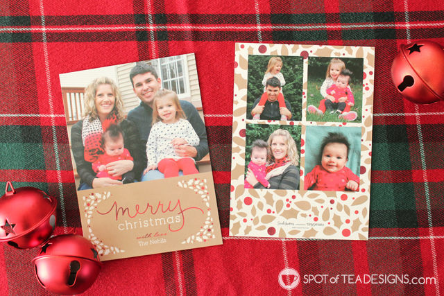 Kraft, Red and White #Christmas Cards from @TinyPrints | spotofteadesigns.com