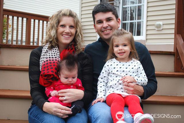 Tara Nehil and family, author of spotofteadesigns.com