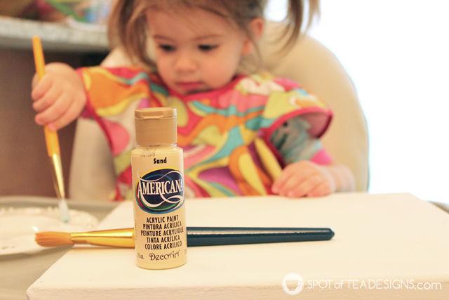 Baby Nursery Canvas Art featuring @DecoArt_Inc Americana Paints | spotofteadesigns.com