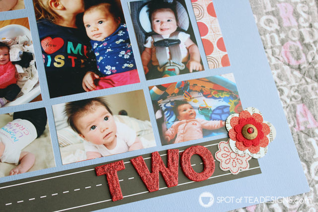 Hailey's First Year - Baby #Scrapbook - two months | spotofteadesigns.com