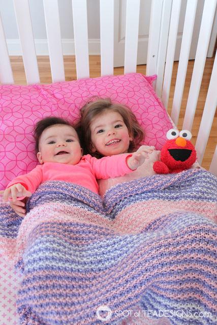 Handmade Gift - Handmade baby blanket made by Courtney | spotofteadesigns.com