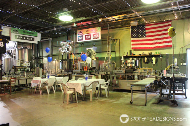35th wedding anniversary party ideas - host it at a brewery! | spotofteadesigns.com